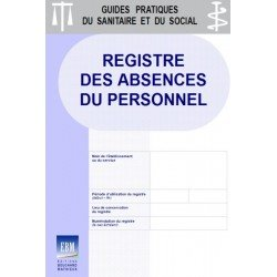 Registre des absences du personnel