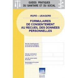 RGPD - USAGERS : formulaires de consentement au recueil des données