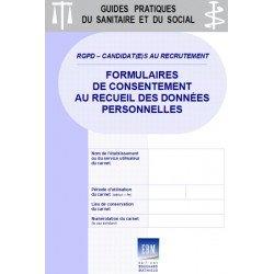 RGPD - CANDIDAT(E)S AU RECRUTEMENT : formulaires de consentement au recueil des données
