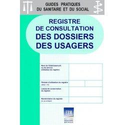 Registre de consultation des dossiers des usagers