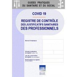COVID 19 - Registre de contrôle des justificatifs sanitaires des professionnels