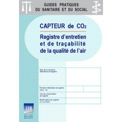 Capteur de CO2 - Registre d'entretien et de traçabilité de la qualité de l'air